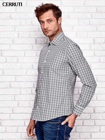 CERRUTI Ecru koszula męska w kratę                                  zdj.                                  3