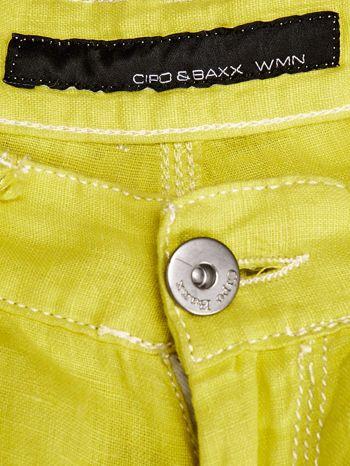 CIPO & BAXX Żółte spodnie z kieszeniami                                  zdj.                                  3