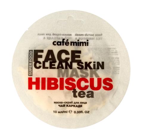"""Cafe Mimi Face Clean Skin Maseczka - scrub do twarzy Herbata z Hibiskusa & Jaśmin  10ml"""""""