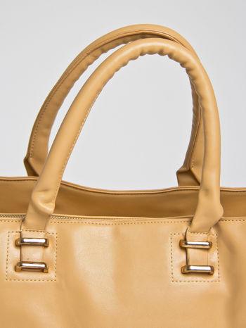 Camelowa torba shopper bag z rączką                                  zdj.                                  2