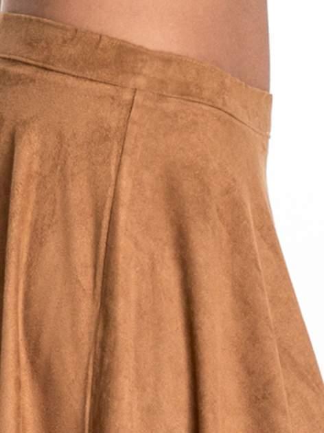 Camelowa zamszowa spódnica w stylu boho                                  zdj.                                  7