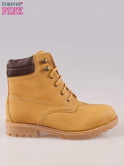 Camelowe buty trekkingowe damskie typu traperki                                  zdj.                                  1