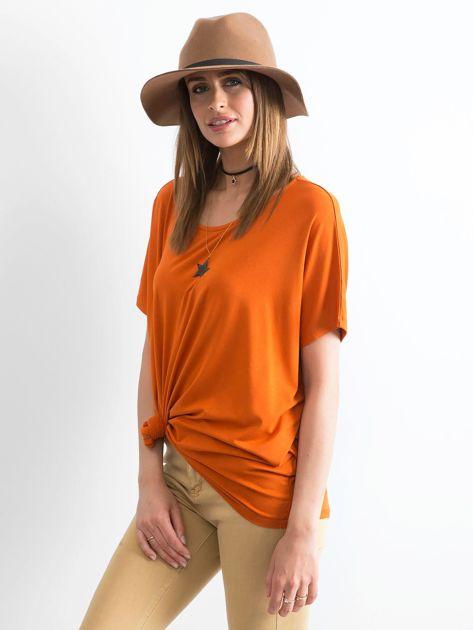 Ceglasta bluzka Oversize                              zdj.                              3