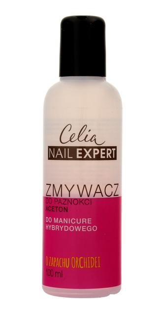 """Celia Nail Expert Zmywacz do paznokci acetonowy do manicure hybrydowego - zapach Orchidei  100ml"""""""