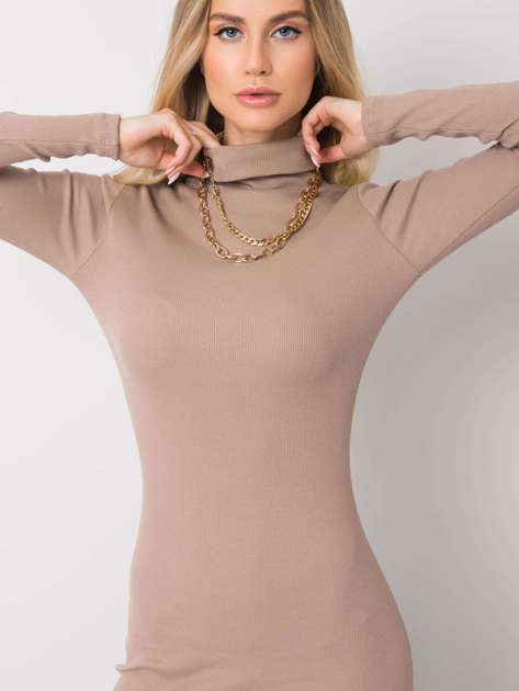 Ciemnobeżowa sukienka Livia RUE PARIS