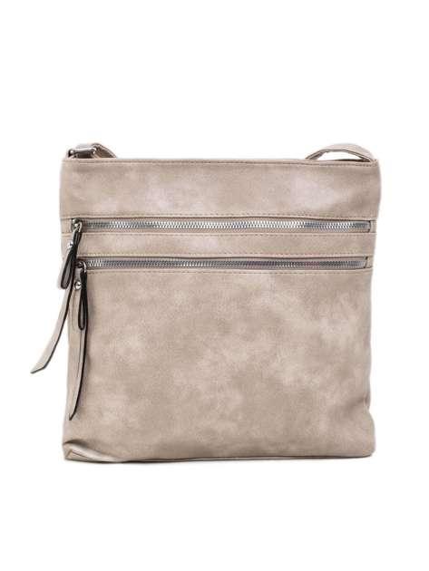 Ciemnobeżowa torebka z kieszeniami