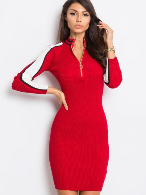 Ciemnoczerwona sukienka Jenna                              zdj.                              1
