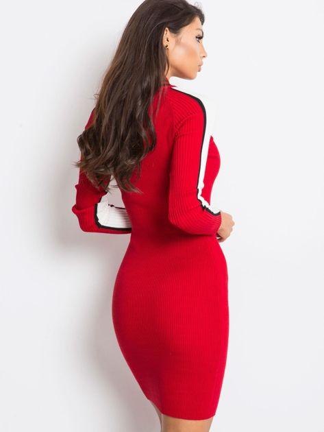 Ciemnoczerwona sukienka Jenna                              zdj.                              2