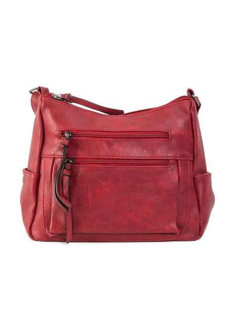 Ciemnoczerwona torebka ze skóry ekologicznej