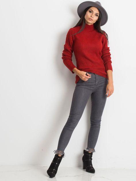 Ciemnoczerwony sweter Milo                              zdj.                              4