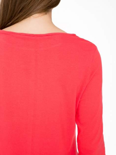 Ciemnokoralowa dresowa sukienka z kieszeniami po bokach                                  zdj.                                  9