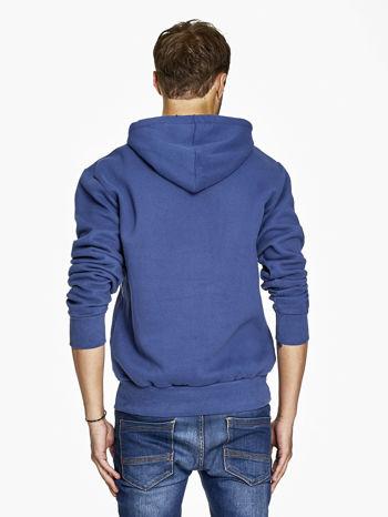 Ciemnoniebieska bluza męska z kapturem z napisem FAR AWAY                                  zdj.                                  2