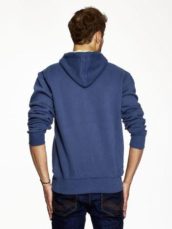 Ciemnoniebieska bluza męska z motywem Londynu                                  zdj.                                  2