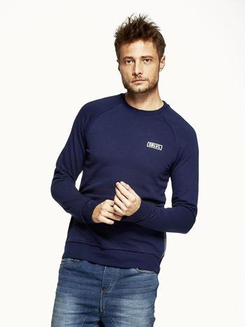 Ciemnoniebieska bluza męska z suwakami                                  zdj.                                  1