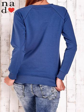 Ciemnoniebieska bluza z motywem sowy i łapacza snów                                  zdj.                                  4