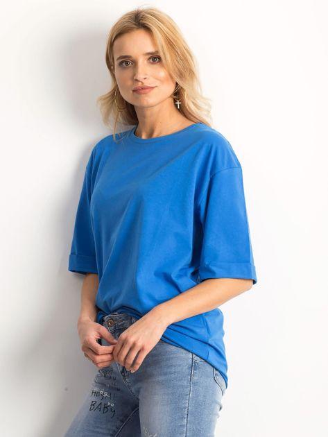 Ciemnoniebieska bluzka Celebration                              zdj.                              3