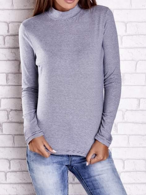Ciemnoniebieska bluzka w paski                                  zdj.                                  2