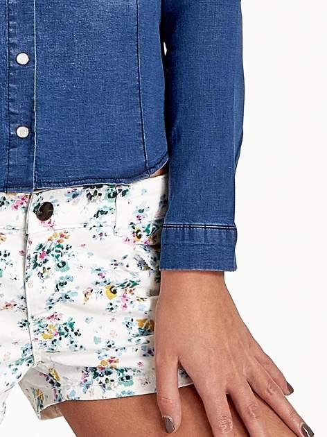 Ciemnoniebieska koszula jeansowa z cieniowaniem                                  zdj.                                  5