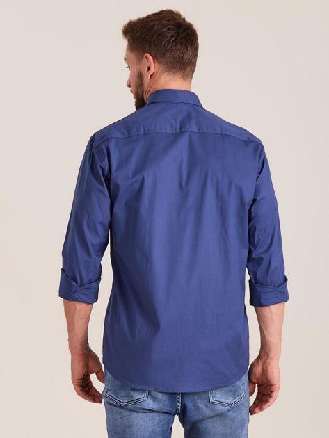Ciemnoniebieska koszula męska regular                              zdj.                              2