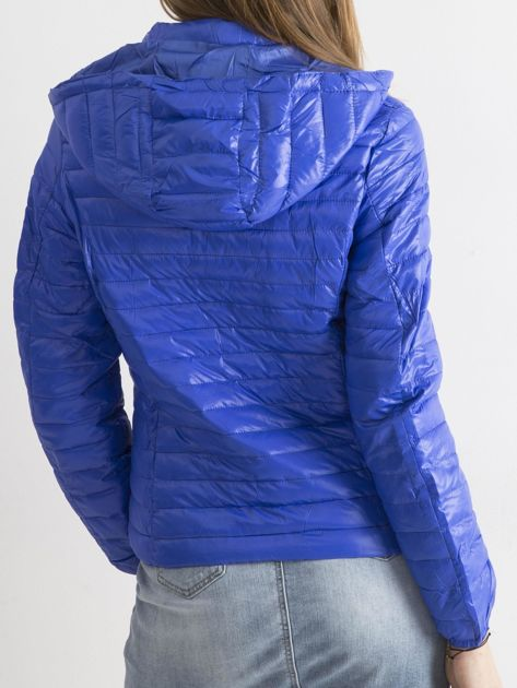 Ciemnoniebieska przejściowa kurtka                              zdj.                              2