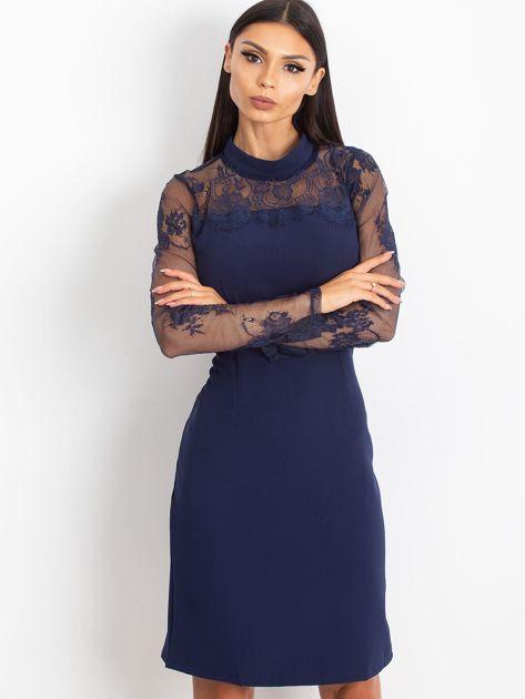 Ciemnoniebieska sukienka Time                              zdj.                              1