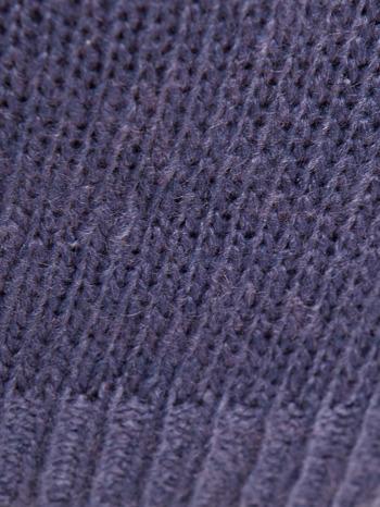 Ciemnoniebieski sweter z sercem i napisem YOU                                  zdj.                                  8