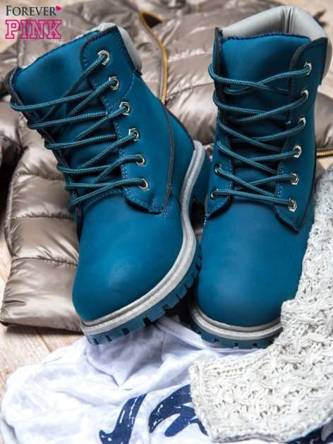 Ciemnoniebieskie buty trekkingowe Amina damskie traperki ocieplane                                  zdj.                                  2