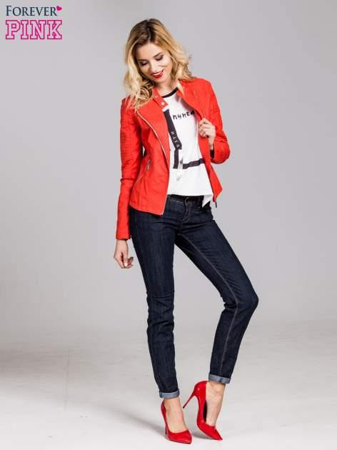 Ciemnoniebieskie klasyczne spodnie jeansowe rurki                                  zdj.                                  5