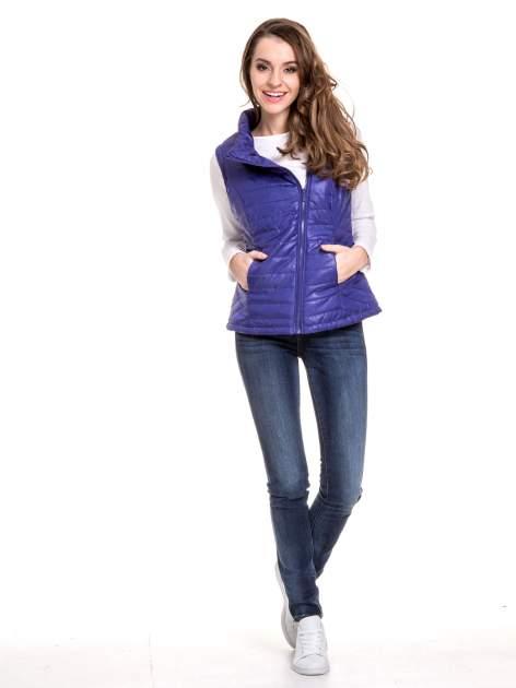 Ciemnoniebieskie spodnie jeansowe rurki z cieniowaniem                                  zdj.                                  10