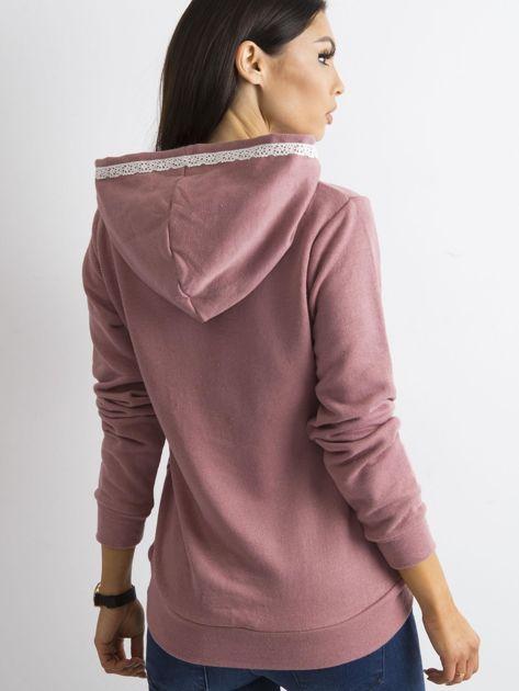 Ciemnoróżowa bluza z kieszeniami                              zdj.                              2