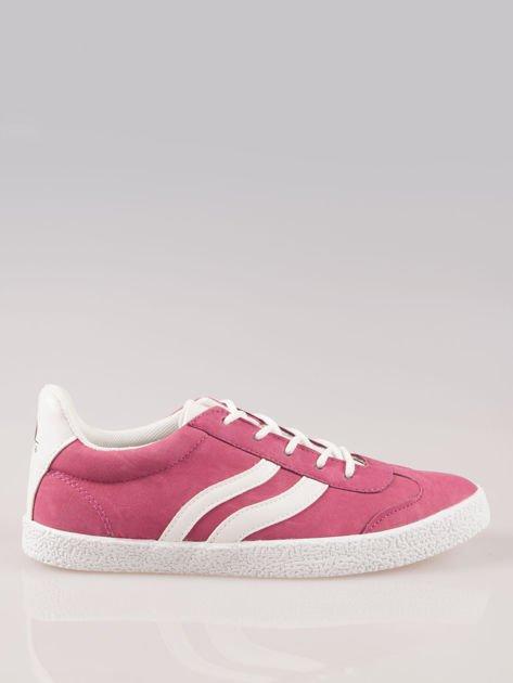 Ciemnoróżowe buty sportowe w stylu casual Kash