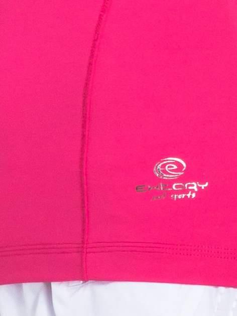 Ciemnoróżowy t-shirt sportowy basic                                  zdj.                                  4