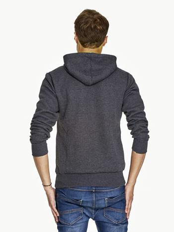 Ciemnoszara bluza męska z raperskim nadrukiem                               zdj.                              2