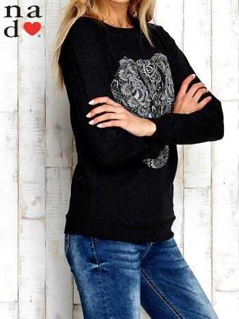 Ciemnoszara bluza z nadrukiem słonia                                  zdj.                                  3