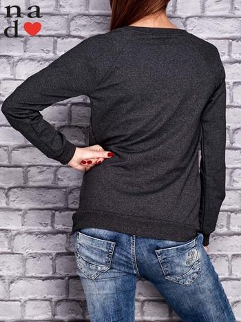 Ciemnoszara bluza z napisem PONIEDZIAŁEK POWINIEN BYĆ TYLKO DLA CHĘTNYCH                                  zdj.                                  2