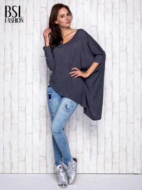 Ciemnoszara melanżowa bluzka oversize                                  zdj.                                  2