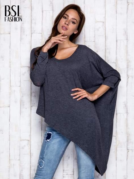 Ciemnoszara melanżowa bluzka oversize                                  zdj.                                  3