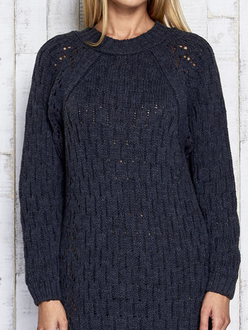 Ciemnoszara swetrowa sukienka midi                                  zdj.                                  6