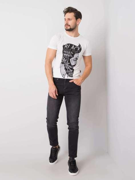 Ciemnoszare jeansy męskie Sean LIWALI