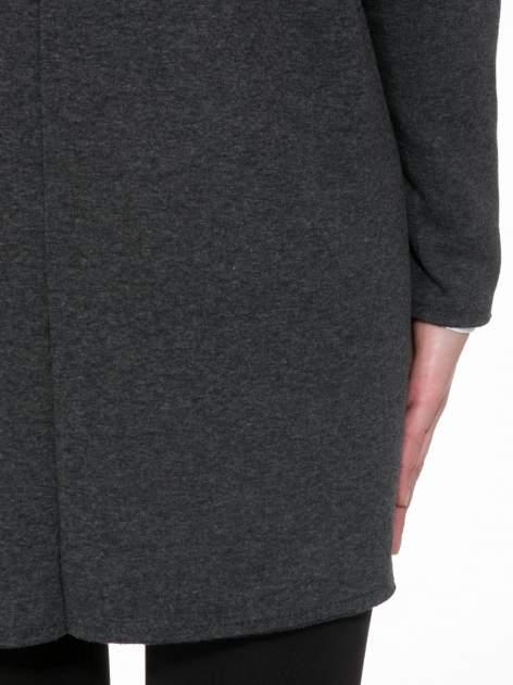 Ciemnoszary płaszczyk dresowy bluza z kapturem                                  zdj.                                  6