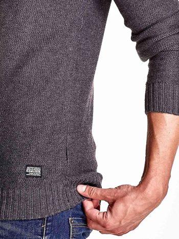 Ciemnoszary sweter męski zapinany na guziki FUNK N SOUL                                  zdj.                                  7