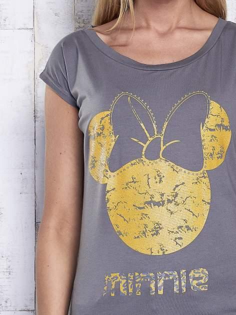 Ciemnoszary t-shirt MINNIE MOUSE                                  zdj.                                  6