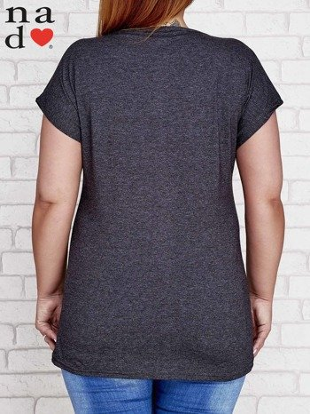 Ciemnoszary t-shirt basic PLUS SIZE