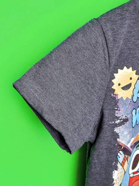 Ciemnoszary t-shirt chłopięcy GUMBALL                                  zdj.                                  6
