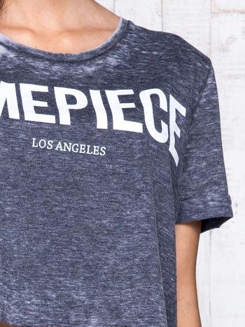 Ciemnoszary t-shirt cropped DIMEPIECE                                  zdj.                                  6