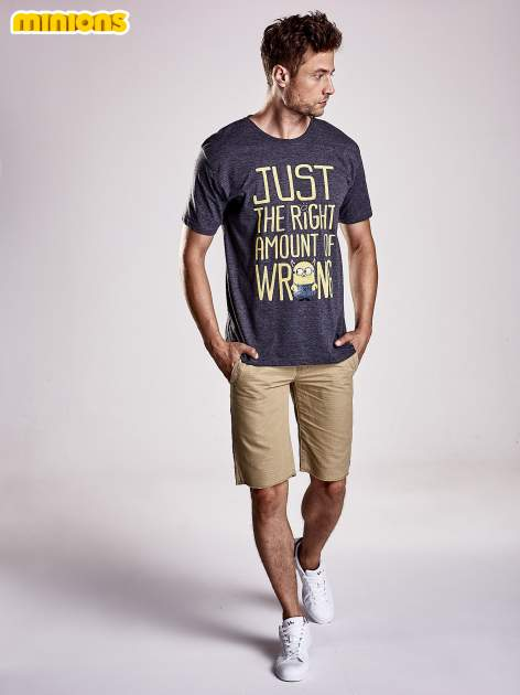 Ciemnoszary t-shirt męski MINIONKI                                  zdj.                                  5