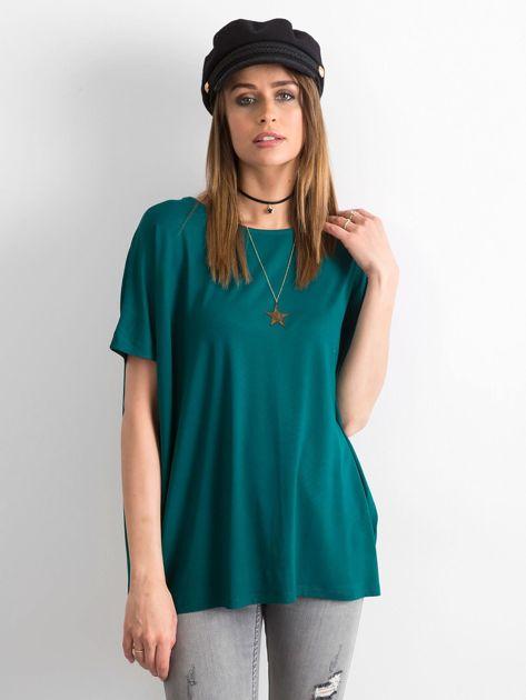Ciemnozielona bluzka Oversize                              zdj.                              1