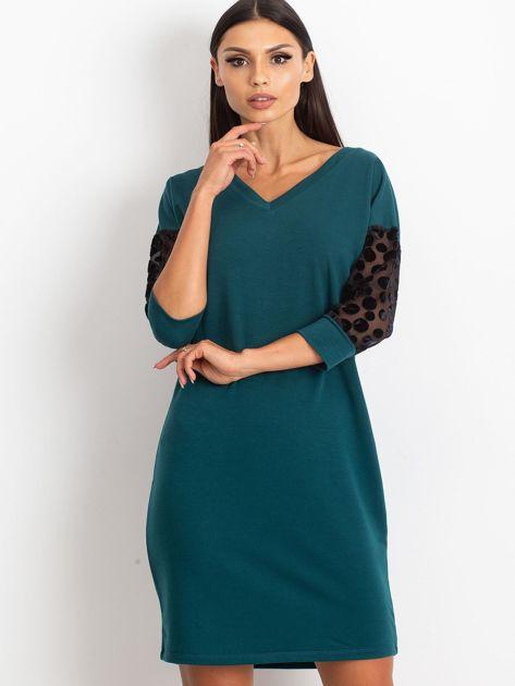 Ciemnozielona sukienka Stream                              zdj.                              1