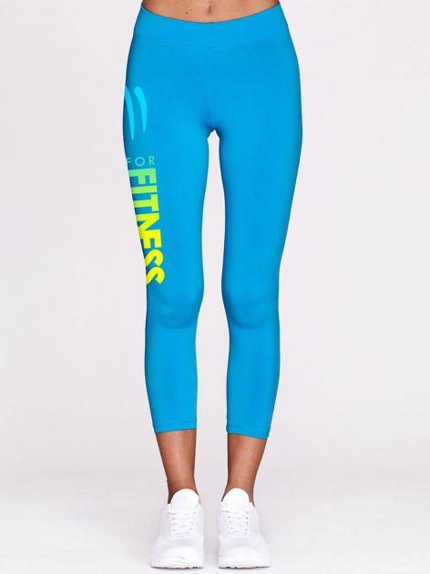 Cienkie legginsy do biegania z ombre printem niebieskie                                  zdj.                                  2