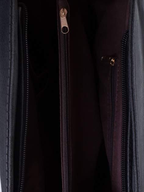 Czarna ażurowa torba na ramię                                  zdj.                                  5